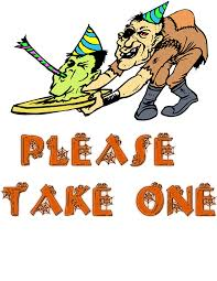 please take 2 halloween signs u2013 festival collections