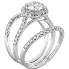 silver wedding rings images Now forever and always wedding ring set jpg