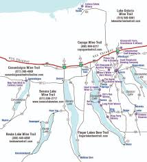 Ithaca Map Finger Lakes Wine Tour Packages Cayuga County Lake Wineries