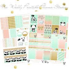 free lazy panda printable spread erin condren