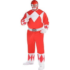 Power Rangers Halloween Costumes Adults Red Power Ranger Costume Size Mighty Morphin Power Rangers