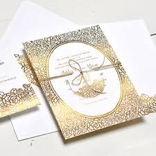 gold wedding invitations top compilation of gold foil wedding invitations theruntime