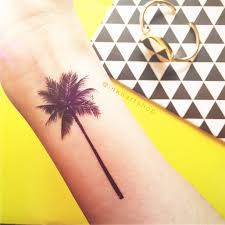 2pcs palm tree 2 sizes inknart temporary