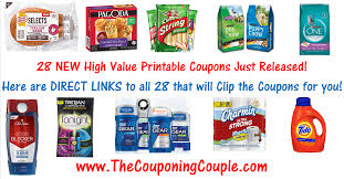 28 new printable coupons great new high value coupons