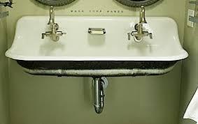 Dual Faucet Sink Double Utility Sink Code Accepted Vintage Porcelain Farm Sink