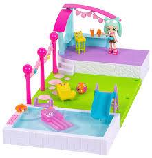 amazon com happy places shopkins happy home pool and sun deck