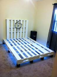 pallet diy bed frame made out of pallets with lights twin