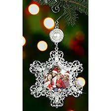 lenox joyful selfie snowflake frame ornament home