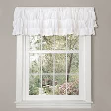 amazon com lush decor belle valance 18 x 84 inches white home