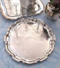 wedding serving trays vintage silver serving tray 19 inch large by houseoflucien