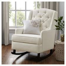 Zoe Armchair Baby Relax Zoe Tufted Rocking Chair White Target