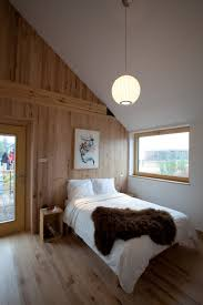 contemporary wood wall paneling inspiration for bedroom interior