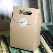 Fudge Boxes Wholesale Zakka Brown Kraft Paper Gift Craft Box Bag Diy Candy Bake Biscuits