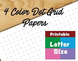 colored dot grid printable paper bullet journal printable