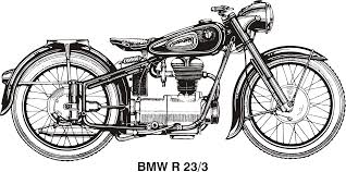 bmw r25 3 year 1953 by vanja historical bmw motorcycle vector