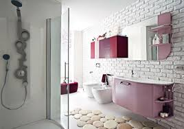 bathroom beautiful pink bathroom decoration using modern mounted