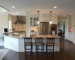 kitchen peninsula designs captivating kitchen one level angled peninsula design pictures on