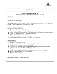 Job Resume Accounting by Choose Accounts Receivable Clerk Job Description Sample Accounts