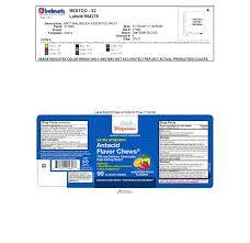 antacid flavor chews tablet chewable walgreen co