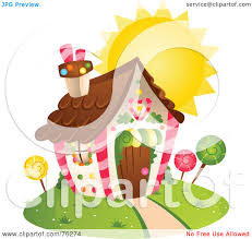 royalty free rf clipart illustration of a unique heart home by