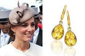 mcdonough citrine drop earrings the duchess of cambridge is a fan of citrine jewellery and among