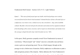Light And Dark Quotes Motif Of Light And Darkness In Mary Shelly U0027s Frankenstein A