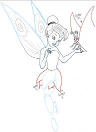 easy butterfly drawings step step draw tinkerbell
