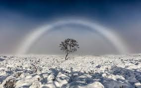 unbelievably beautiful white rainbow captured in photo