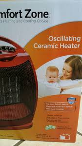 Comfort Zone Heater Fan Comfort Zone Oscillating Ceramic Heater Red Model No Cz449r Brand