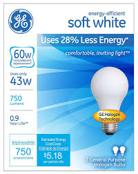 ge lighting 63003 soft white 43 watt 60 watt replacement 750