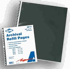 archival photo pages 18 x 24 archival refill pages for presentation cases package of 5