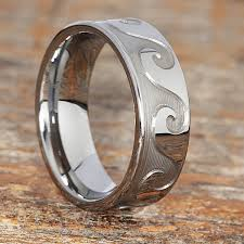mens metal rings images Tidal wave sculpted mens carved rings forever metals jpg