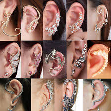earring on ear ear cuff earrings ebay