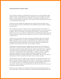 Sample Of Business Proposal Letter by 6 Business Proposal Letter For Restaurant Army Memo Format