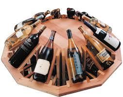 table top for circular wine merchandiser commercial wine rack