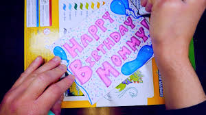 coloring birthday cards how to draw a birthday card kids coloring video youtube