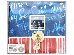 nautical photo album k company 12 x 12 in scrapbook window album nautical script