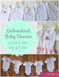 personalization baby gifts craftaholics anonymous baby gift idea embroidered baby onesies