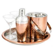 barware sets king international style copper plated bar shaker best barware