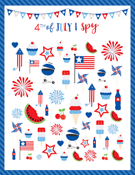 4th of july i spy printable lil u0027 luna