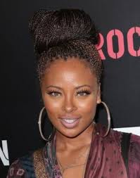 put your hair in a bun with braids hairstyles for box braids lovetoknow