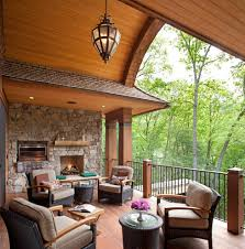 Covered Porch Covered Porch With Fireplace Porch Traditional With Tongue And