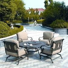 luxury patio furniture with fire pit table for innovative patio