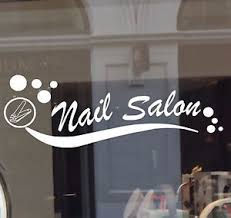 nail salon vinyl decal sticker business sign manicure pedicure