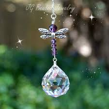 purple dragonfly suncatcher jg beads
