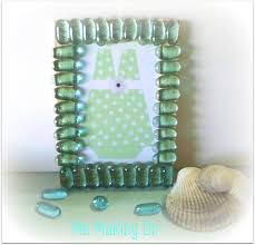 Sea Glass Picture Frame plus free printable Beach Bash Day 2