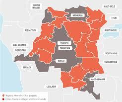 Republic Of Congo Map Democratic Republic Of Congo Msf Usa
