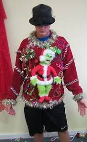 grinch christmas sweater mens christmas sweater vest cozy grinch juice lights sz