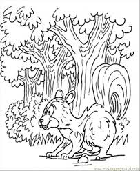 skunk forest coloring coloring free forest coloring