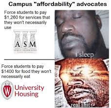 Wisconsin Meme - after cus memes call out associated students of madison
